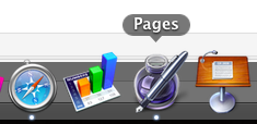 Numbers Pages Keynote im Dock